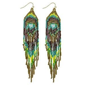 Seed Bead Boho Tassel Earrings
